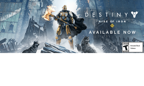Ironic: D E S T N Y V  RISE OF IRON  AVAILABLE NOW