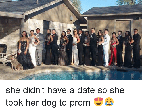 RG3: D  rg3 she didn't have a date so she took her dog to prom 😍😂
