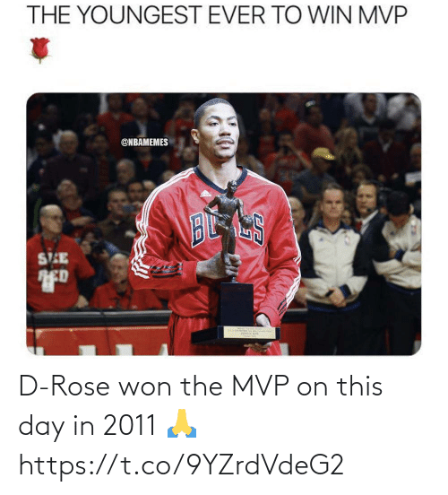 Rose: D-Rose won the MVP on this day in 2011 🙏 https://t.co/9YZrdVdeG2