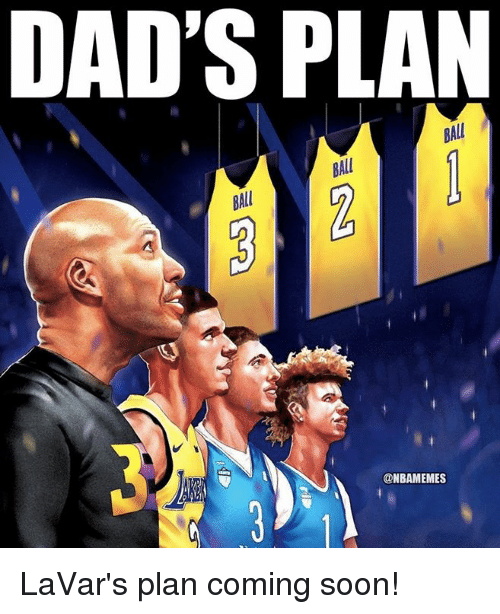 Nba, Soon..., and Ball: DAD'S PLAN  BALL  BALL  BAL  @NBAMEMES LaVar's plan coming soon!