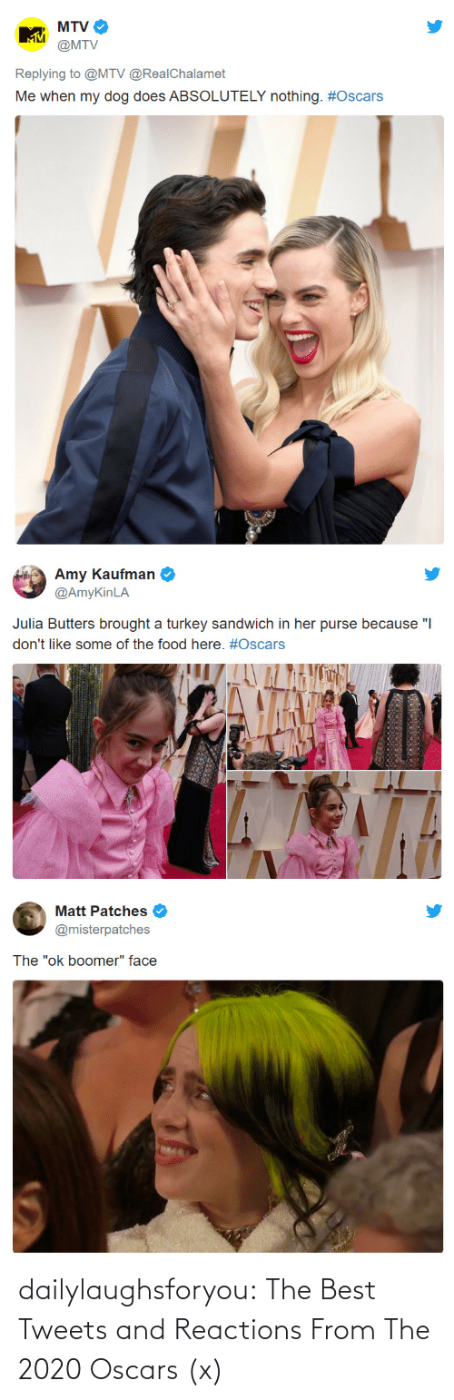Oscars: dailylaughsforyou:  The Best Tweets and Reactions From The 2020 Oscars (x)
