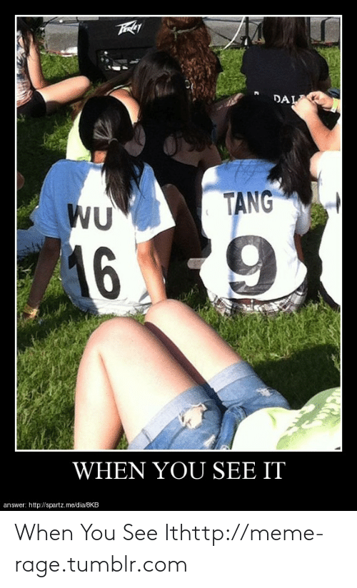 meme: DAL  TANG  WU  16 9  WHEN YOU SEE IT  answer: http://spartz.me/dia/8KB When You See Ithttp://meme-rage.tumblr.com
