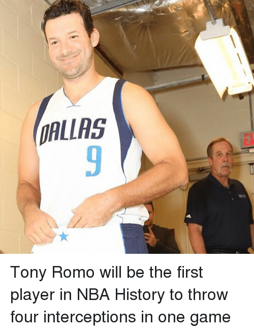 romos: DALLAS Tony Romo will be the first player in NBA History to throw four interceptions in one game