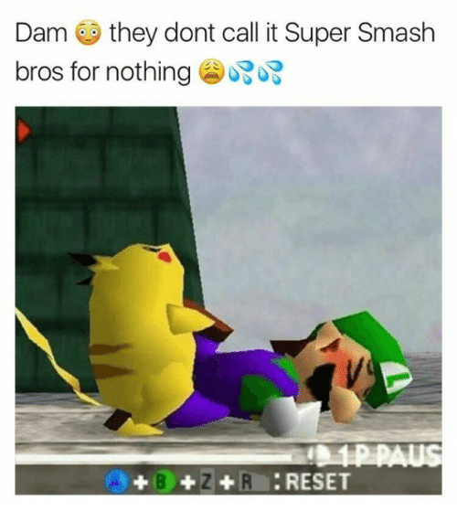 Smashing Bros: Dam they dont call it Super Smash  bros for nothing  +B+Z+RRESET