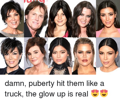 Puberty, Damned, and Them: damn, puberty hit them like a truck, the glow up is real 😍😍