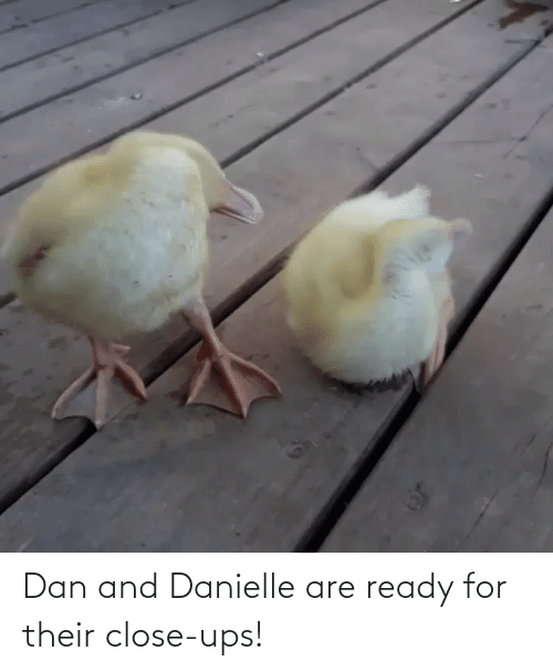 danielle: Dan and Danielle are ready for their close-ups!