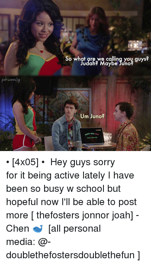 Jonnor: Dan Scenes  So what are we calling you guys?  Judahe Maybe Juno  Um Juno?  Damn, you're • [4x05] • ⠀⠀⠀⠀⠀⠀⠀⠀⠀ Hey guys sorry for it being active lately I have been so busy w school but hopeful now I'll be able to post more [ thefosters jonnor joah] -Chen 🐋 ⠀⠀⠀⠀⠀⠀⠀⠀⠀ [all personal media: @-doublethefostersdoublethefun ]