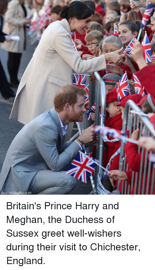 Prince Harry: (Daniel Leal-Olivas/Pool via AP) Britain's Prince Harry and Meghan, the Duchess of Sussex greet well-wishers during their visit to Chichester, England.