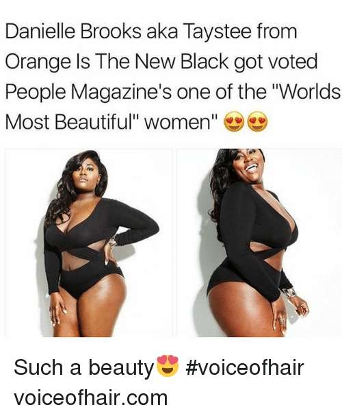 """Beautiful Women: Danielle Brooks aka Taystee from  Orange ls The New Black got voted  People Magazine's one of the """"Worlds  Most Beautiful"""" women"""" Such a beauty😍 #voiceofhair voiceofhair.com"""