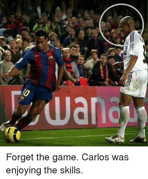 Soccer, The Game, and Game: dar-op Forget the game. Carlos was enjoying the skills.