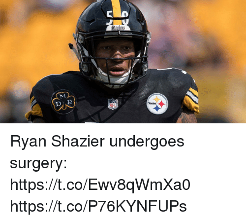 Memes, Steelers, and 🤖: DAR  Steelers Ryan Shazier undergoes surgery: https://t.co/Ewv8qWmXa0 https://t.co/P76KYNFUPs