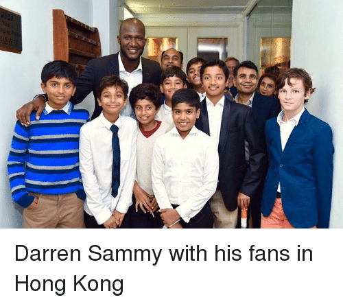 Darren Sammy With His Fans In Hong Kong Meme On Sizzle
