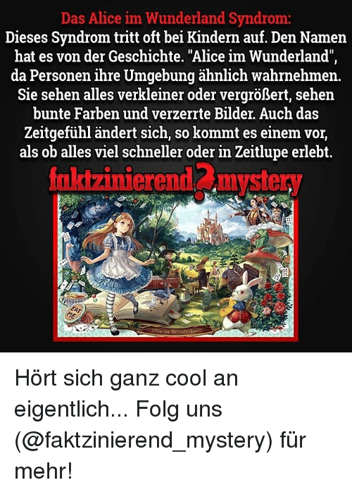 alice im wunderland syndrom kind