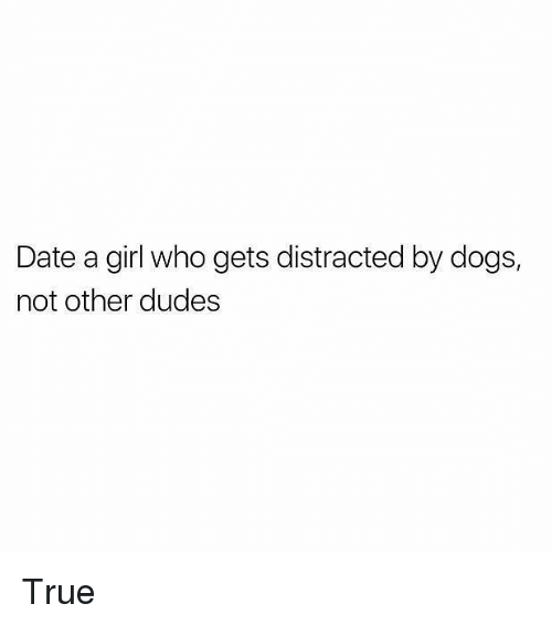 Dogs, Memes, and True: Date a girl who gets distracted by dogs,  not other dudes True