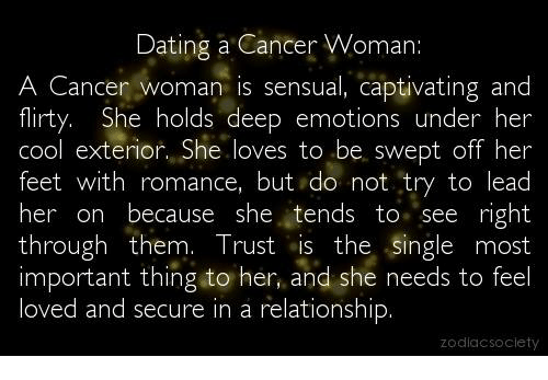 Dating a cancer girl