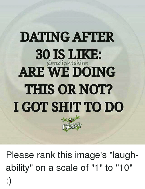 Dating after 30