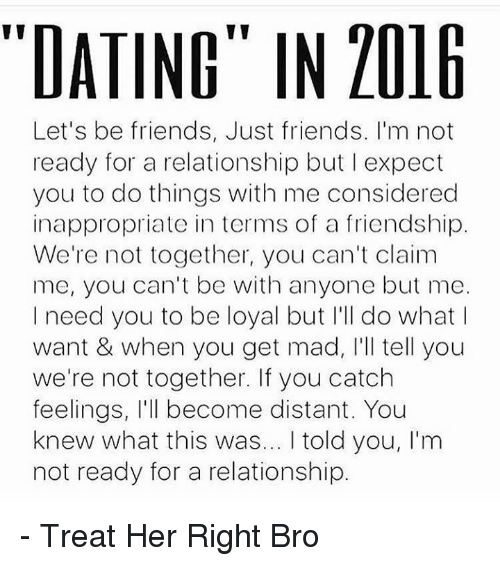 Let's just be friends dating