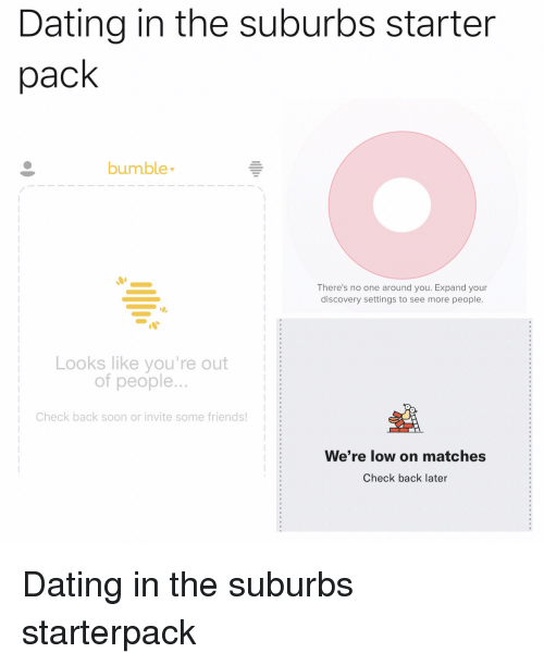 Dating in the suburbs