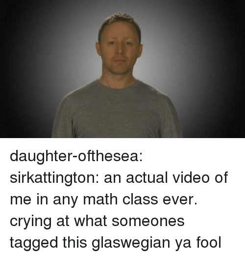 math class: daughter-ofthesea:  sirkattington:  an actual video of me in any math class ever.  crying at what someones tagged this glaswegian ya fool