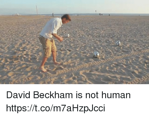 David Beckham, Soccer, and Human: David Beckham is not human https://t.co/m7aHzpJcci