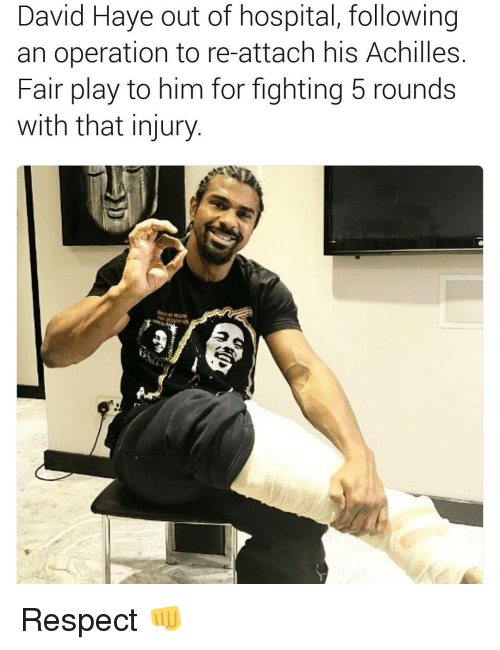 David Haye Out Of Hospital Following An Operation To Re
