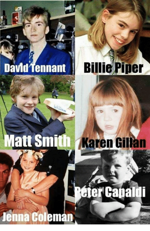 karen gillan: David Tennant e P  David Tenna  Billie Piper  Matt Smith Karen Gillan  elercapaldi  Jenna Coleman