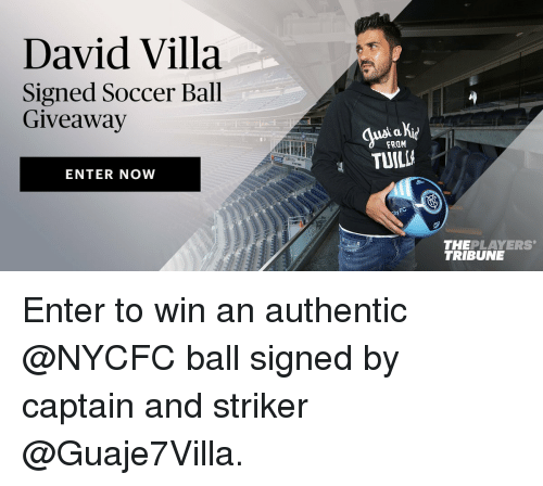 David villa signed soccer ball giveaway enter now from for Enter now to win