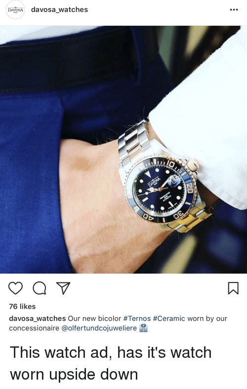 Funny, Watch, and Watches: DAVOSA davosa_watches  76 likes  davosa,Watches Our new bicolor #Ternos #Ceramic worn by our  concessionaire @olfertundcoiuweliere