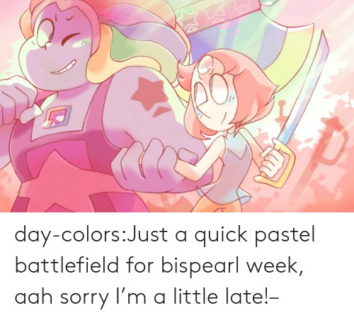 Battlefield: day-colors:Just a quick pastel battlefield for bispearl week, aah sorry I'm a little late!–