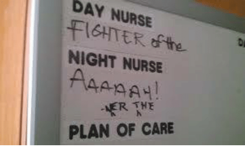 Memes, 🤖, and Day: DAY NURSE  FIGHTERthe  NIGHT NURSE  PLAN OF CARE