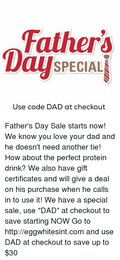 DaySPECIALI Use Code DAD at Checkout Father's Day Sale ...