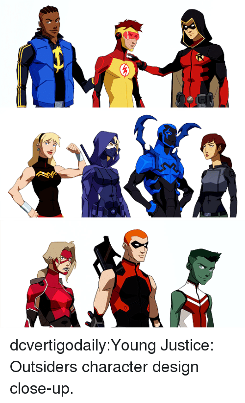 Young Justice: dcvertigodaily:Young Justice: Outsiders character design close-up.