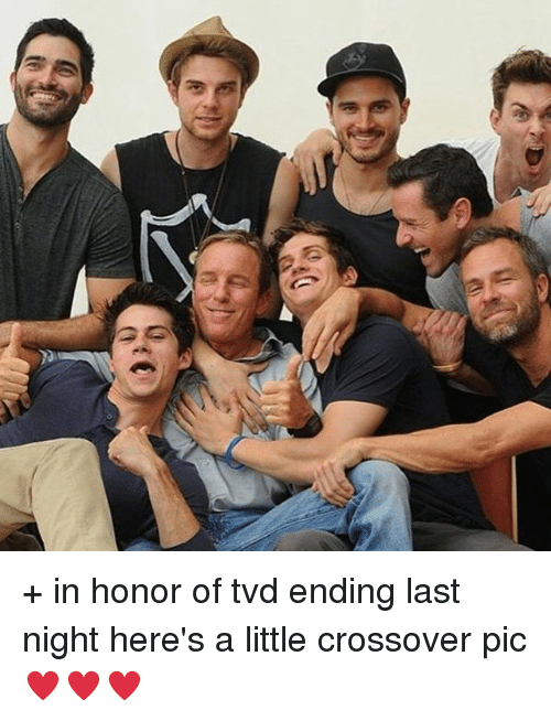 Memes, 🤖, and Tvd: DD + in honor of tvd ending last night here's a little crossover pic ♥️♥️♥️