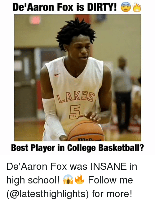 College basketball: De Aaron Fox is DIRTY!  LAKES  Best Player in College Basketball? De'Aaron Fox was INSANE in high school! 😱🔥 Follow me (@latesthighlights) for more!
