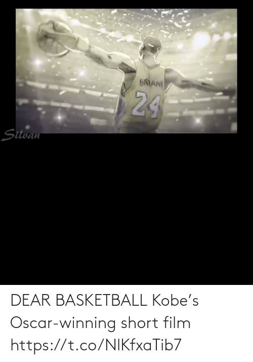 Basketball: DEAR BASKETBALL Kobe's Oscar-winning short film    https://t.co/NlKfxaTib7