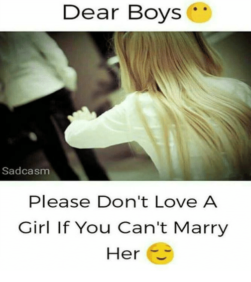 Dating a girl who you cant marry
