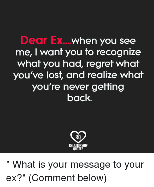 going back to your ex quotes