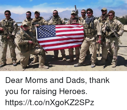 Memes, Moms, and Thank You: Dear Moms and Dads, thank you for raising Heroes. https://t.co/nXgoKZ2SPz