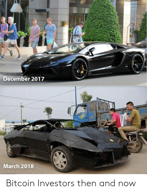 Bitcoin: December 2017  March 2018 Bitcoin Investors then and now