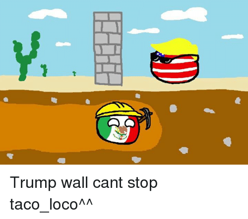 Dank, 🤖, and Loco: DEH Trump wall cant stop taco_loco^^