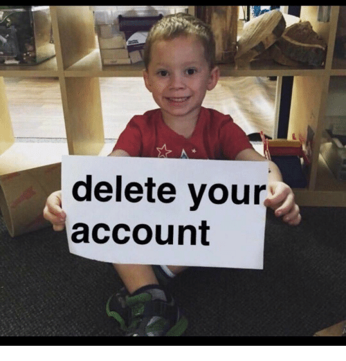 Memes, 🤖, and Delete Your Account: delete your  account