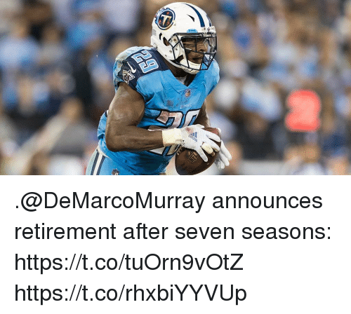Memes, 🤖, and Seven: .@DeMarcoMurray announces retirement after seven seasons: https://t.co/tuOrn9vOtZ https://t.co/rhxbiYYVUp