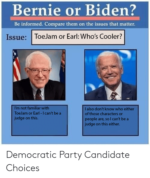 Democratic Party: Democratic Party Candidate Choices