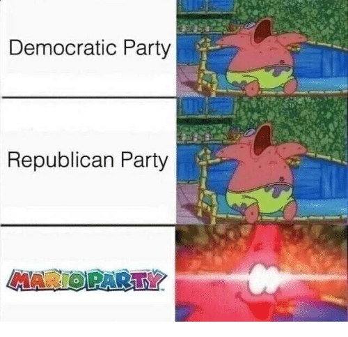 Funny, Party, and Democratic Party: Democratic Party  Republican Party