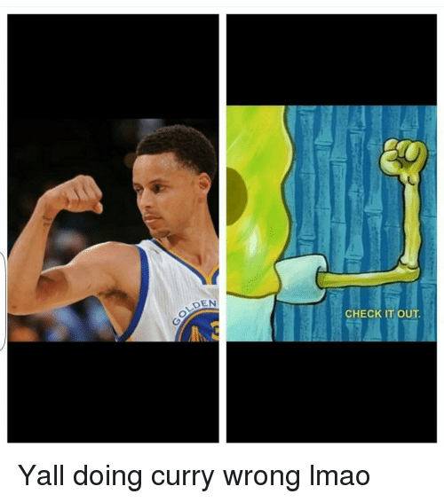 Funny, Lmao, and Wrongs: DEN  CHECK IT OUT.  O Yall doing curry wrong lmao