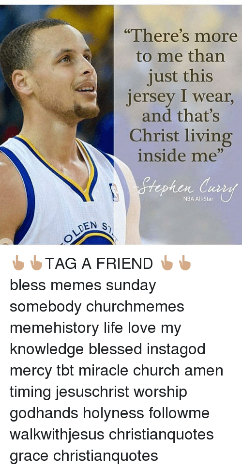 "All Star, Blessed, and Church: DEN S  ""There's more  to me than  just this  Jersey I wear,  and that's  Christ living  inside me""  NBA All-Star 👆🏽👆🏽TAG A FRIEND 👆🏽👆🏽 bless memes sunday somebody churchmemes memehistory life love my knowledge blessed instagod mercy tbt miracle church amen timing jesuschrist worship godhands holyness followme walkwithjesus christianquotes grace christianquotes"