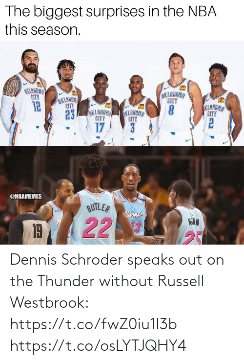 westbrook: Dennis Schroder speaks out on the Thunder without Russell Westbrook: https://t.co/fwZ0iu1I3b https://t.co/osLYTJQHY4