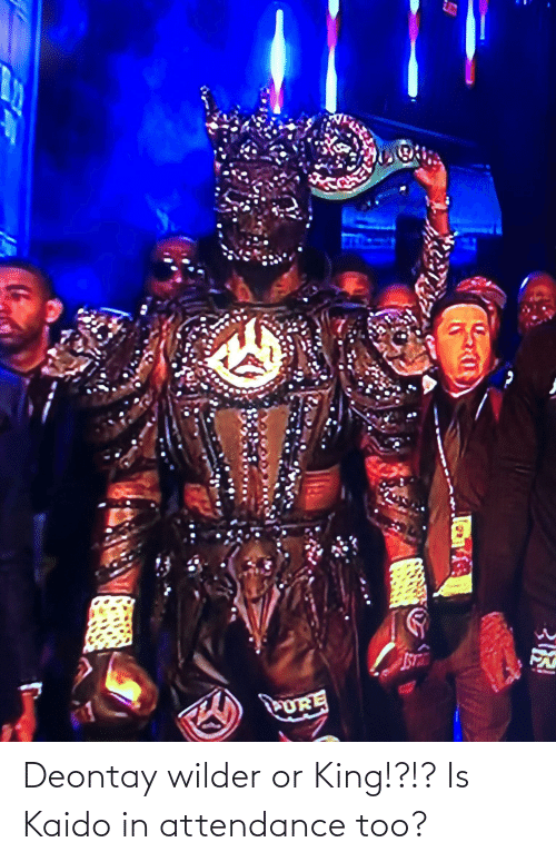 Attendance: Deontay wilder or King!?!? Is Kaido in attendance too?