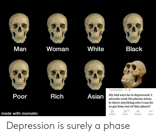 surely: Depression is surely a phase