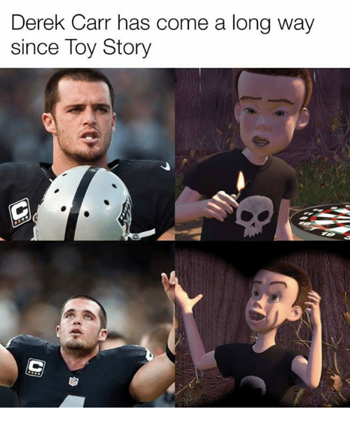 derek carr has come a long way since toy story 14668242 🔥 25 best memes about derek carr derek carr memes,Derek Carr Memes